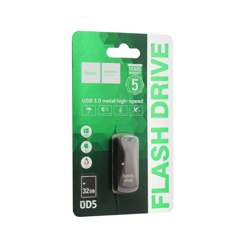 Флешка USB 3.0 Flash HOCO UD5 128GB серый