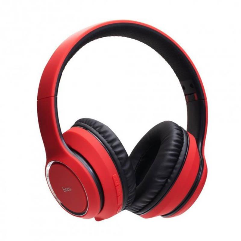 Беспроводные bluetooth наушники HOCO W28 красный