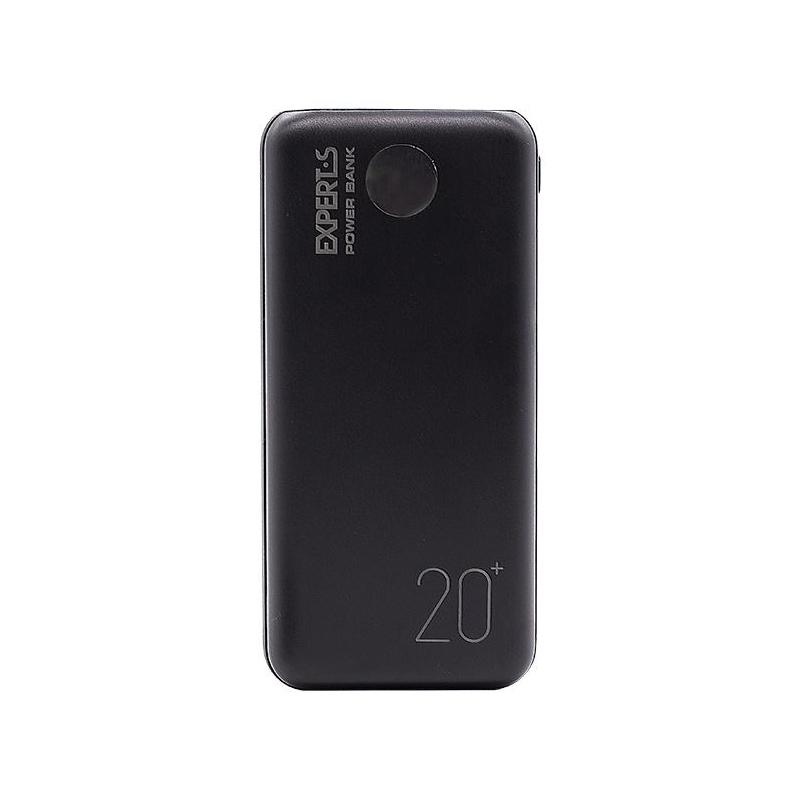 Портативное зарядное устройство EXPERTS P307 20 000 mAh черный