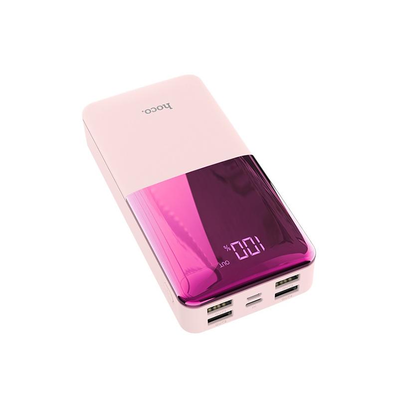 Портативное зарядное устройство Hoco Power Bank J42A 20 000 mAh розовый