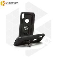 Гибридный противоударный чехол Defender Case для Samsung Galaxy A21 черный