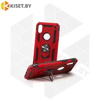 Гибридный противоударный чехол Defender Case для Samsung Galaxy A21 красный