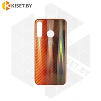 Силиконовый чехол Aurora Glass для Apple iPhone 7 / 8 Plus красно-черный