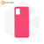 Soft-touch бампер Silicone Cover для Huawei P40 Lite E / Y7p неоново-розовый с закрытым низом