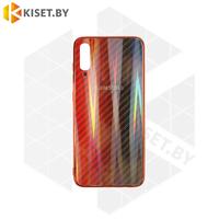 Силиконовый чехол Aurora Glass для Apple iPhone 7 / 8 Plus красно-синий