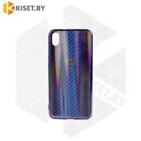 Силиконовый чехол Aurora Glass для Apple iPhone 7 / 8 Plus синий