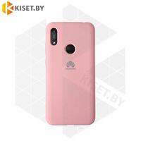Soft-touch бампер Silicone Cover для Huawei P40 Lite / Nova 6SE розовый с закрытым низом