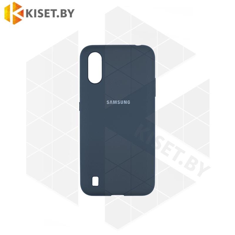 Soft-touch бампер Silicone Cover для Huawei P40 Lite / Nova 6SE  темно-синий с закрытым низом