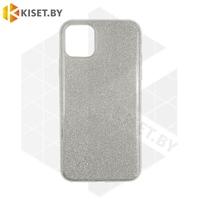 Силиконовый чехол Crystal Shine для Samsung Galaxy A21S / A217 серебристый