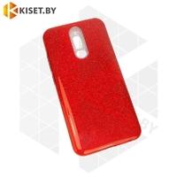 Силиконовый чехол Crystal Shine для Samsung Galaxy A21S / A217 красный