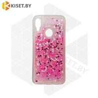 Силиконовый чехол Quicksand для Samsung Galaxy A21S / A217 розовый