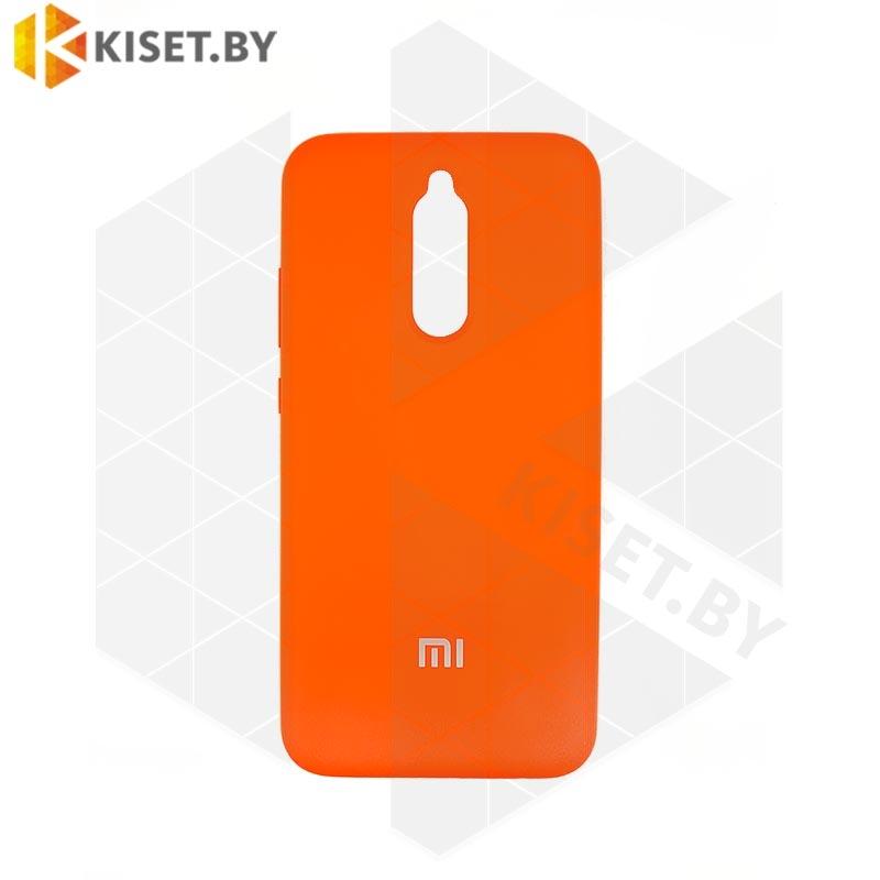 Soft-touch бампер Silicone Cover для Huawei P40 Lite / Nova 6SE оранжевый с закрытым низом