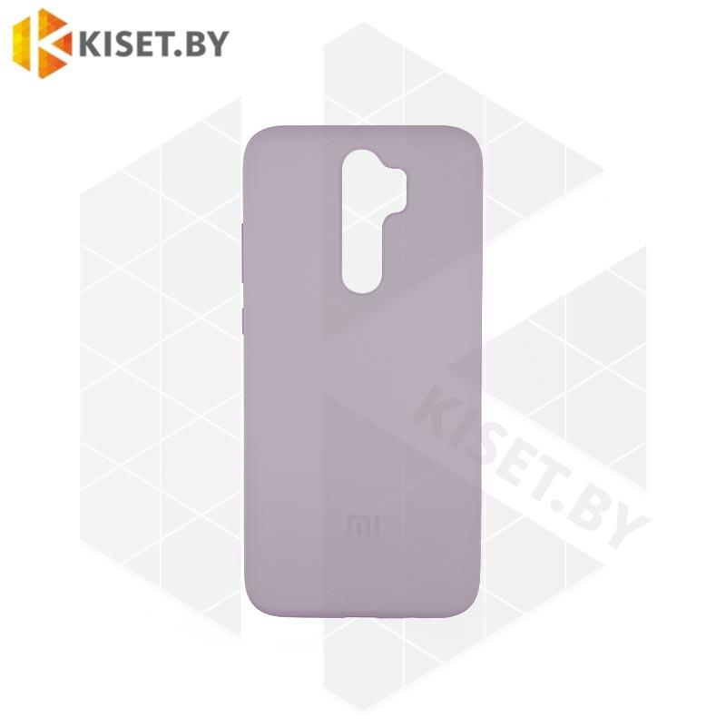 Soft-touch бампер Silicone Cover для Huawei P40 Lite / Nova 6SE лавандовый с закрытым низом