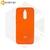 Soft-touch бампер Silicone Cover для Huawei P40 Lite E / Y7p оранжевый с закрытым низом