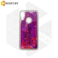 Силиконовый чехол Quicksand для Samsung Galaxy A21S / A217 фиолетовый