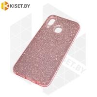 Силиконовый чехол Crystal Shine для Samsung Galaxy A21S / A217 розовый