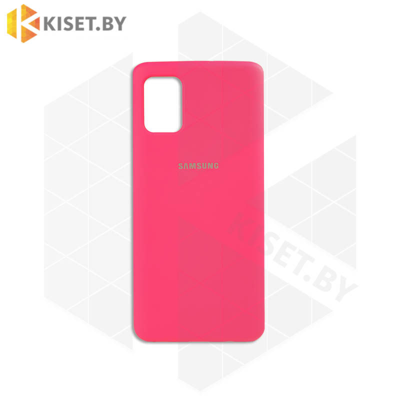 Soft-touch бампер Silicone Cover для Xiaomi Redmi Note 7 / 7 Pro неоново-розовый с закрытым низом