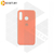 Soft-touch бампер Silicone Cover дляHuawei P40 Lite E / Y7p коралловый с закрытым низом