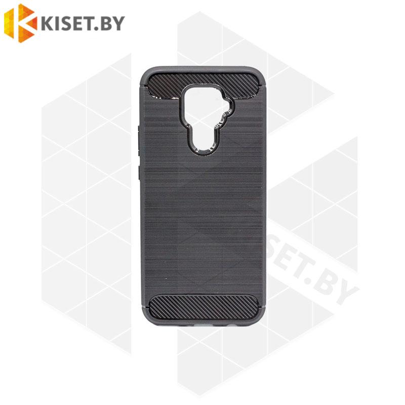 Силиконовый чехол Brushed Line Case для Huawei Mate 30 Lite черный