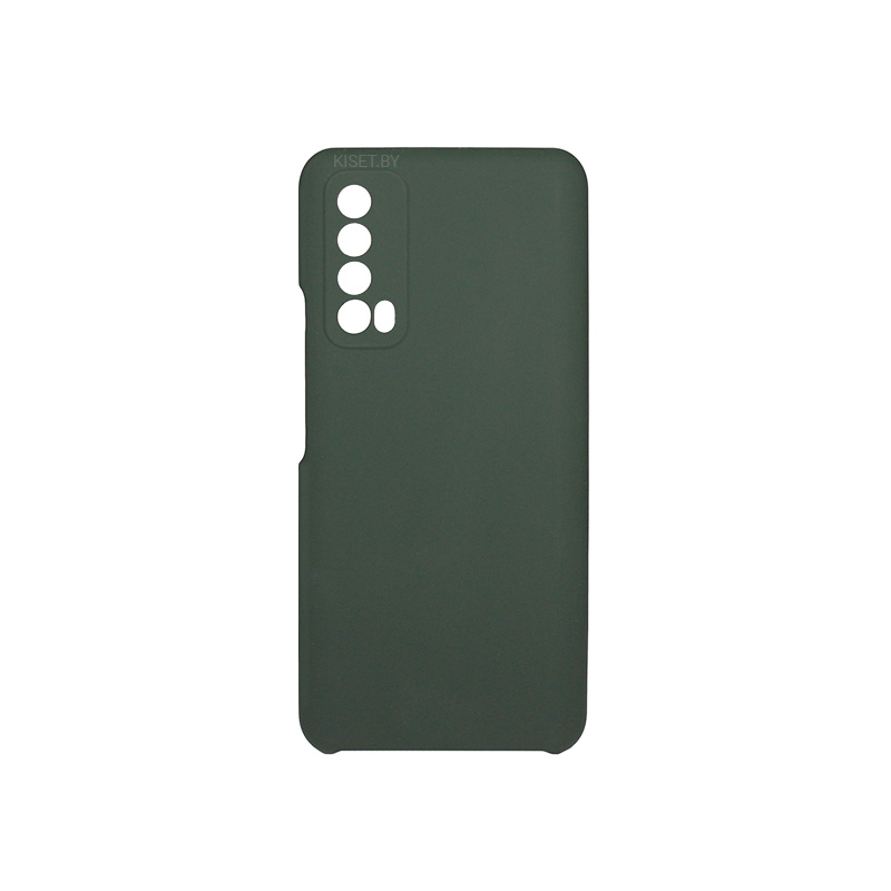 Soft-touch бампер Silicone Cover для Huawei P Smart (2021) темно-зеленый