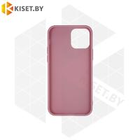 Силиконовый чехол матовый для iPhone 12 / 12 Pro розовый песок