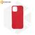 Силиконовый чехол матовый для iPhone 12 / 12 Pro амарантовый