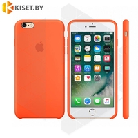 Бампер Silicone Case для iPhone 6 / 6s оранжевый шафран #13