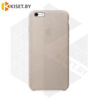 Бампер Silicone Case для iPhone 6 Plus / 6s Plus лилово-бежевый #7