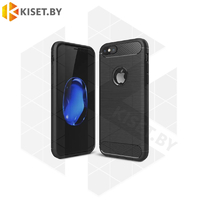 Силиконовый чехол Brushed Line Case для iPhone 6 / 6S черный