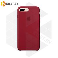 Бампер Silicone Case для iPhone 7 Plus / 8 Plus бордовый #33