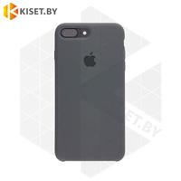 Бампер Silicone Case для iPhone 7 Plus / 8 Plus угольно-серый #15