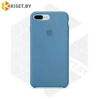 Бампер Silicone Case для iPhone 7 Plus / 8 Plus стальной синий #38