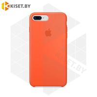 Бампер Silicone Case для iPhone 7 Plus / 8 Plus оранжевый #2