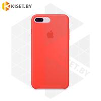Бампер Silicone Case для iPhone 7 Plus / 8 Plus оранжевый шафран #13