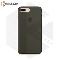 Бампер Silicone Case для iPhone 7 Plus / 8 Plus серо-оливковый #34