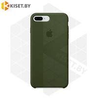 Бампер Silicone Case для iPhone 7 Plus / 8 Plus хаки #48