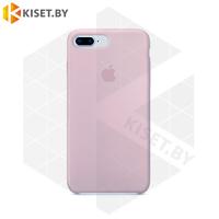 Бампер Silicone Case для iPhone 7 Plus / 8 Plus лилово-бежевый #7