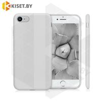 Бампер Silicone Case для iPhone 7 / 8 / SE (2020) платиново-серый #23