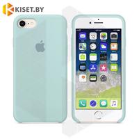 Бампер Silicone Case для iPhone 6 / 6s бледно-голубой #43