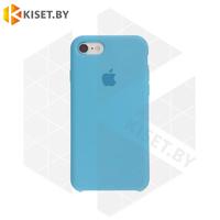 Бампер Silicone Case для iPhone 7 / 8 / SE (2020) голубой #16