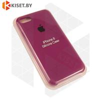Бампер Silicone Case для iPhone 7 / 8 / SE (2020) марсала #52