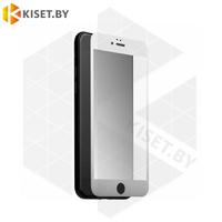 Защитное стекло матовое полной проклейки Full glue для Apple iPhone 7 / 8 / SE (2020) белое