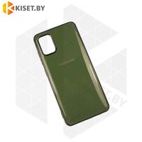 Силиконовый чехол Plating для Apple iPhone 7 / 8 Plus темно-зеленый