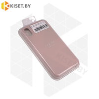 Бампер Silicone Case для iPhone Xr розовый песок #19 без логотипа