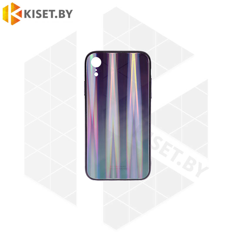 Чехол-бампер Aurora Glass для Apple iPhone Xr синий