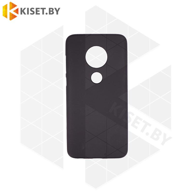 Силиконовый чехол матовый для Motorola Moto G7 / G7 Plus черный