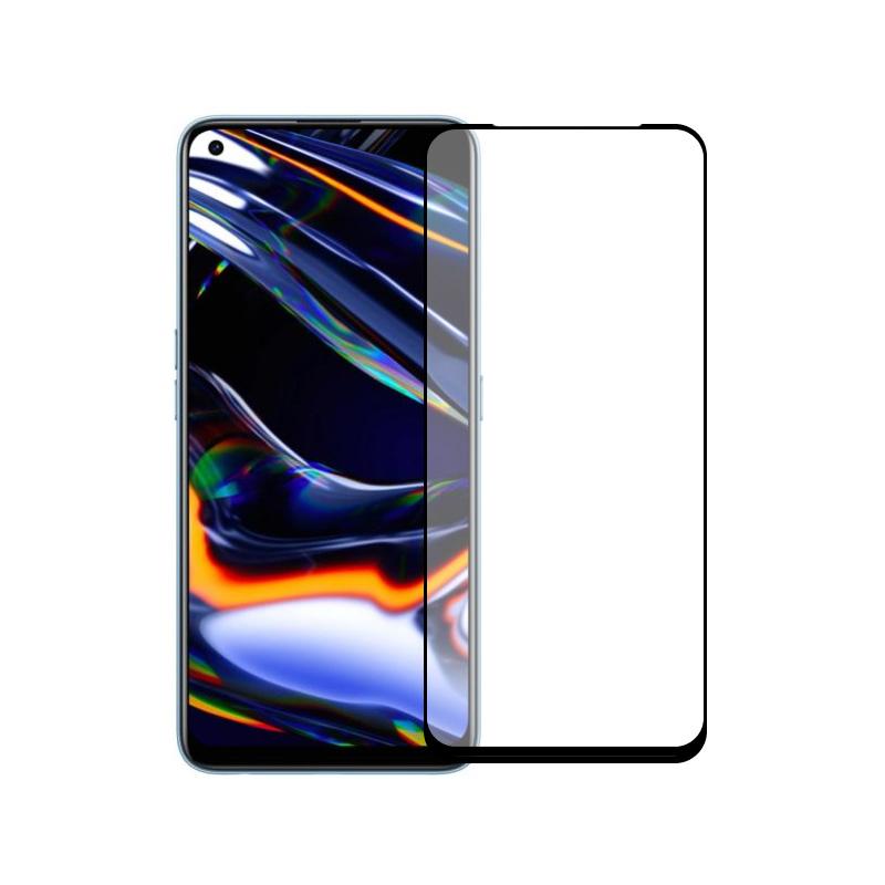 Защитное стекло полной проклейки Full glue для Realme 8 Pro черный