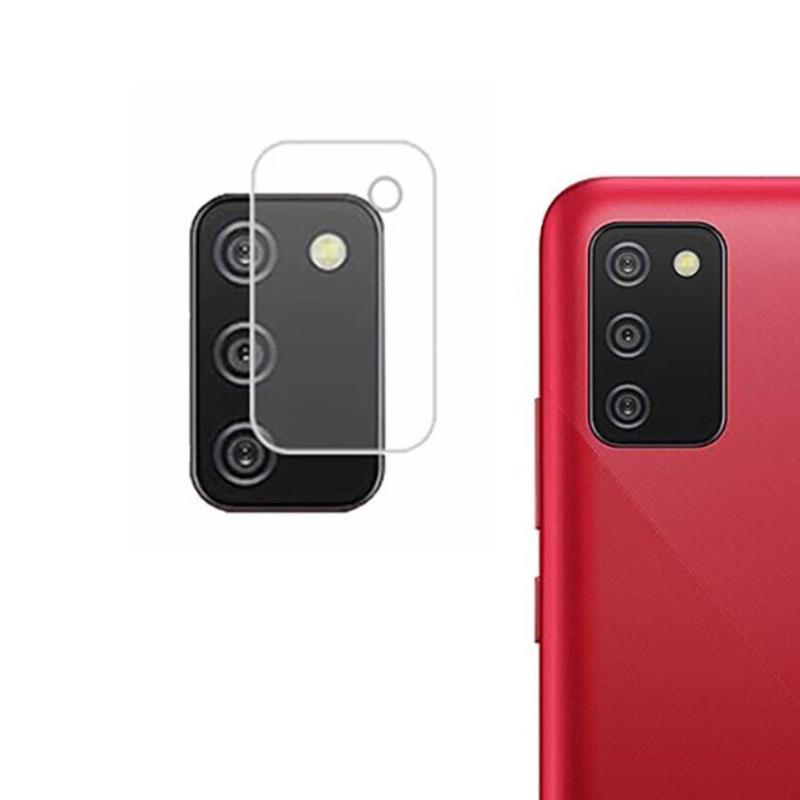 Защитное стекло на заднюю камеру для Samsung Galaxy A02S / M02S прозрачное