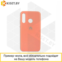 Soft-touch бампер Silicone Cover для Xiaomi Redmi Note 7 / 7 Pro коралловый с закрытым низом