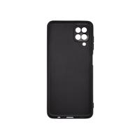 Силиконовый чехол матовый для Samsung Galaxy A12 черный